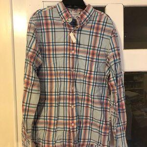 Brand new plaid button up shirt